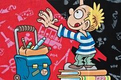 дети граффити Стоковое Изображение