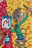 дети граффити Стоковая Фотография