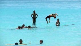 дети играя море Стоковое фото RF