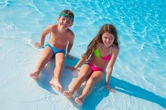 дети 2 пляжа Стоковое Фото