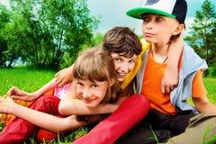 дети радостные Стоковые Фото