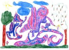 дети рисуя s Стоковое Изображение RF
