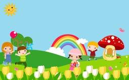 дети собирают играть Стоковые Фото