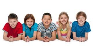 дети собирают счастливое Стоковое Фото