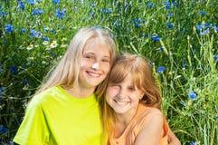 дети счастливые outdoors стоковое фото rf