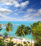 лето ландшафта назначения пляжа красивейшее тропическое стоковое фото