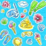 лето картины безшовное Иллюстрация вектора