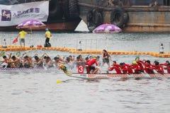 лето масленицы шлюпки дракона Гонконга Стоковое фото RF