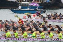 лето масленицы шлюпки дракона Гонконга Стоковое Фото