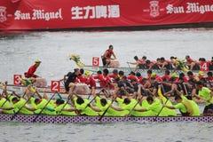 лето масленицы шлюпки дракона Гонконга Стоковое Изображение