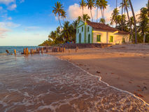 лето неба моря церков пляжа голубое стоковое фото rf