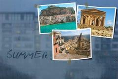 лето праздников семьи счастливое ваше Сицилия Италия Стоковые Фотографии RF