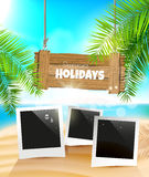 лето праздников семьи счастливое ваше Стоковые Изображения