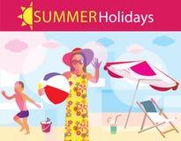 лето праздников семьи счастливое ваше Стоковое Изображение