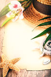 лето плаката праздника предпосылки тропическое Стоковое Изображение