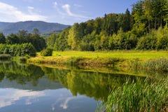 лето Украина гор ландшафта Крыма Стоковая Фотография