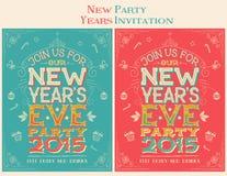 леты партии приглашения кануна новые Стоковые Изображения