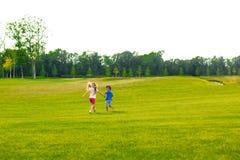 2 дет бегут Стоковые Фотографии RF