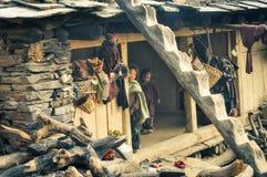 2 дет в Непале Стоковые Фотографии RF