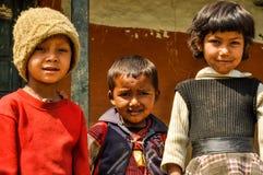 3 дет в Непале Стоковое фото RF