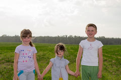 3 дет в Стоковое Изображение