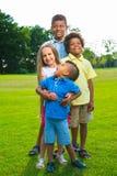 4 дет играют на glade Стоковые Изображения RF