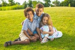 3 дет играют на glade Стоковые Изображения RF