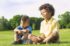 2 дет играют Стоковая Фотография