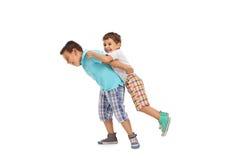 2 дет играя друг с другом Стоковая Фотография RF