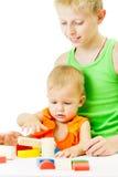 2 дет играя совместно Стоковое Изображение RF