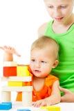 2 дет играя совместно Стоковые Фото