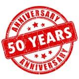 50 лет избитой фразы годовщины Стоковое Фото