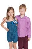 2 дет моды против белизны Стоковое фото RF