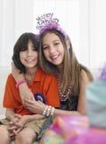 2 дет на вечеринке по случаю дня рождения Стоковые Фото
