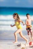 2 дет на пляже Стоковые Фото