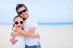 2 дет на пляже Стоковое Изображение RF