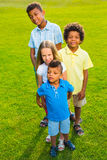 4 дет на glade Стоковые Фото