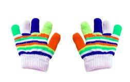 2 дет покрасили перчатки Стоковые Фотографии RF