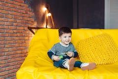 3 лет портрета мальчика времени жизнерадостных маленьких Стоковые Фото