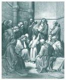 12 лет старого Иисуса в иллюстрации виска Стоковые Фотографии RF