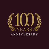 100 лет старого празднуя королевского логотипа Стоковая Фотография