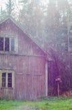 100 лет старой деревянной кабины Стоковое Фото