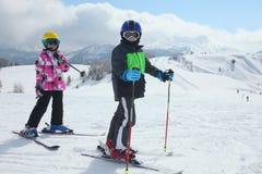 Дети на горе Стоковое фото RF