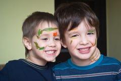 2 дет с покрашенной стороной Стоковая Фотография RF