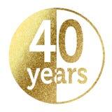 40 лет Стоковое Изображение RF