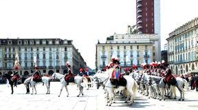 200 лет Carabinieri в параде в квадрате Стоковое Изображение