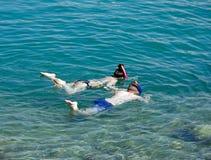 2 дет snorkelling, Sissi Стоковые Фотографии RF
