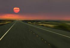ехал установленное солнце Стоковое фото RF