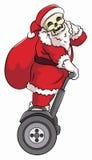 Ехать santa Bonehead segway Стоковое Изображение RF