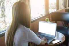деятельность женщины компьтер-книжки дела Стоковая Фотография RF